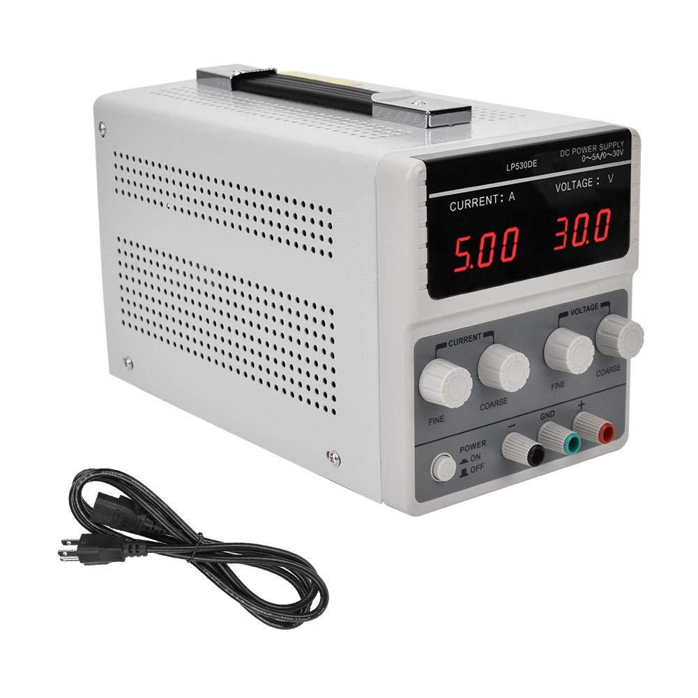 DC Power Supply, LP530DE Durable AdjustableDC Stabilizer Power Supply Switchable DC Regulator,30V 5A (US)