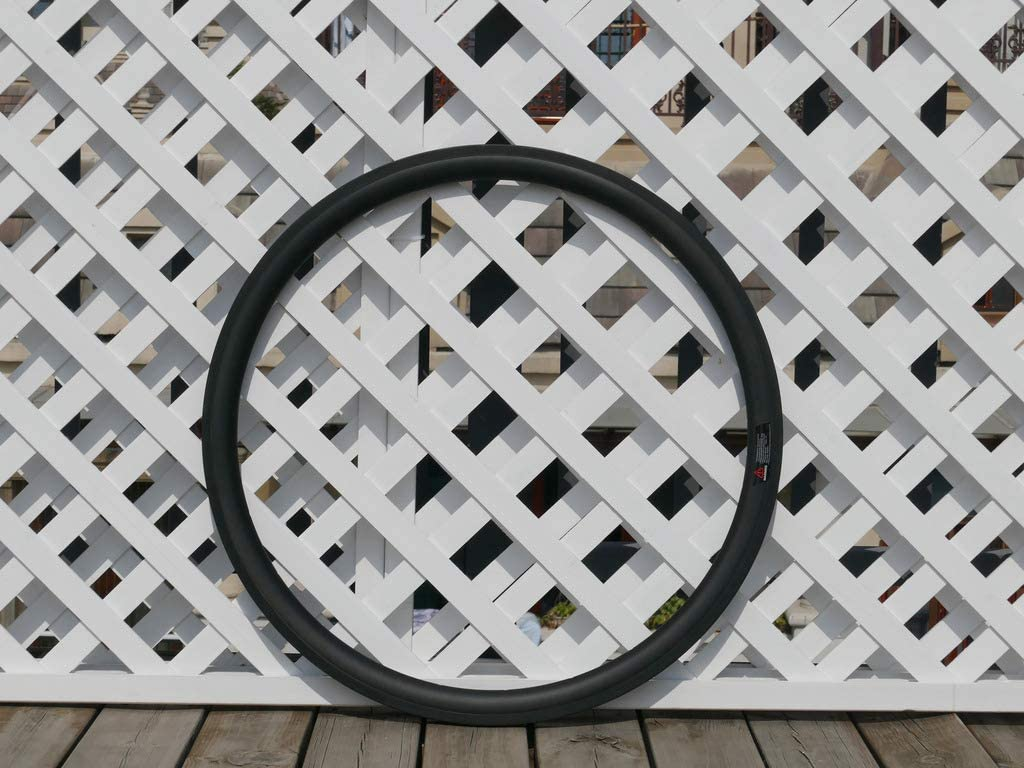flyxii Width 27mm Wide U Shape 38mm Cycling Wheel Rims 3K Carbon Glossy Bike Tubular Rim 700C Carbon Road Bicycle Rims 38mm (20, 24 Holes)