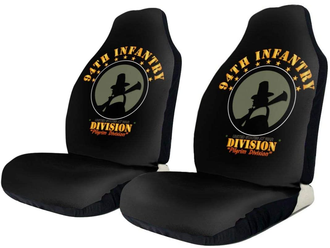 KEEDCE&FJE 94th Infantry Division Pilgrim Division Universal Car Seat Cover Car Seat Covers Protector for Automobile Truck SUV Vehicle
