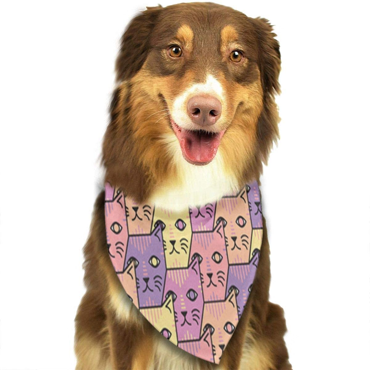CHAN03 Dogs Bandana Collars Cute Cats Pets Triangle Neckerchief Puppy Bibs Scarfs Cats Scarfs Towel