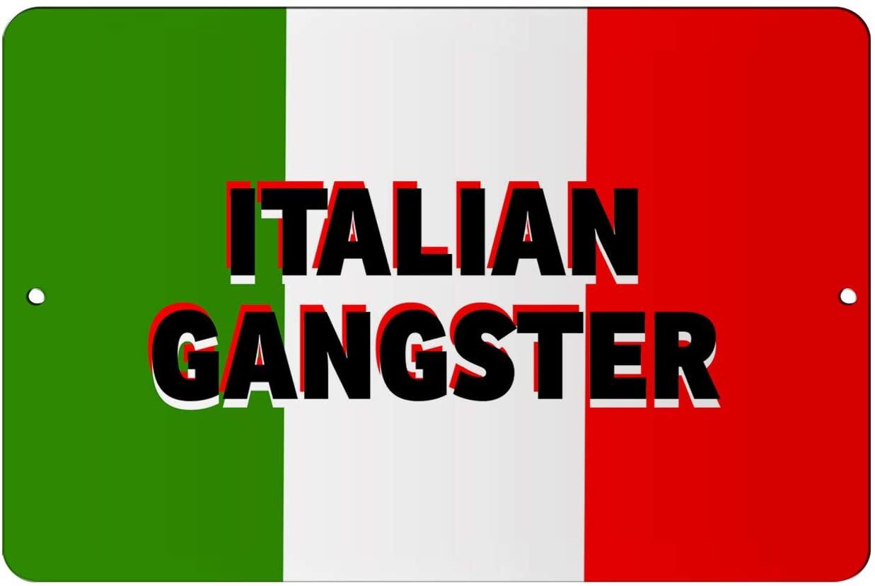 Makoroni - Italian Gangster Italy Design 8x12 inc Aluminum Decorative Wall Street Sign