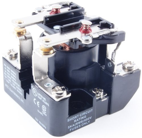 NTE Electronics R04-7A30-24 Series R4 General Purpose Multicontact AC Open Frame Relay, Heavy Duty, DPST-NO Contact Arrangement, 30 Amp, 24 VAC