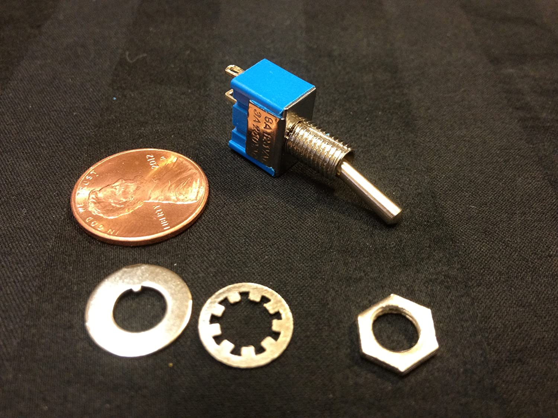 1x On-off Toggle Switch Spst Mts-101 6mm 1/4 Sub Miniature on Off 1pcs B12 Sc31