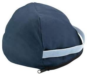 Dover Saddlery Fleece-Lined Helmet Bag - Navy/White/Light Blue