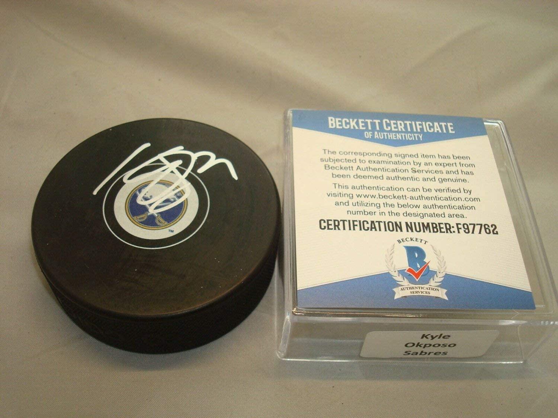 Kyle Okposo Autographed Signed Buffalo Sabres Hockey Puck Autographed Beckett Beckett COA