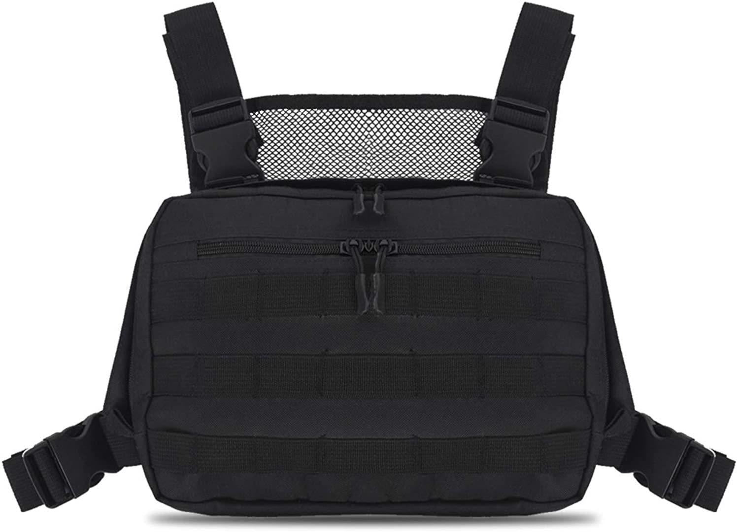 Chest Bag Tool Pouch, Multi-Function Vest Pouch Lightweight Front Chest Pack for Hiking, Running, Cycling, Climbing, Travelling