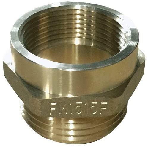 Dixon Valve & Coupling FM1515F Brass Fire Equipment, Hex Nipple, 1-1/2