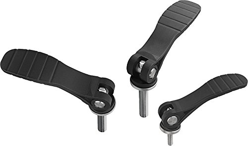Kipp 04233-2311A4X25 Stainless Steel Adjustable Cam Levers with Plastic Handle and 3/8-16