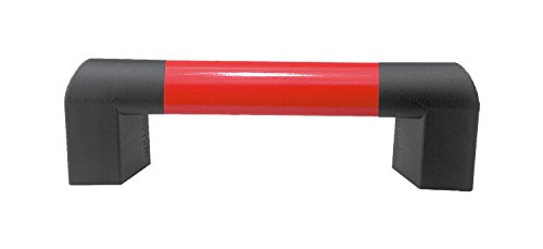 Kipp 06948-14001127 Aluminum/Thermoplastic Oval Tube Big Hand, Anthracite Gray End Piece, Hexagon Wood Screw DIN 571, Metric 400 mm Length, Ruby Red