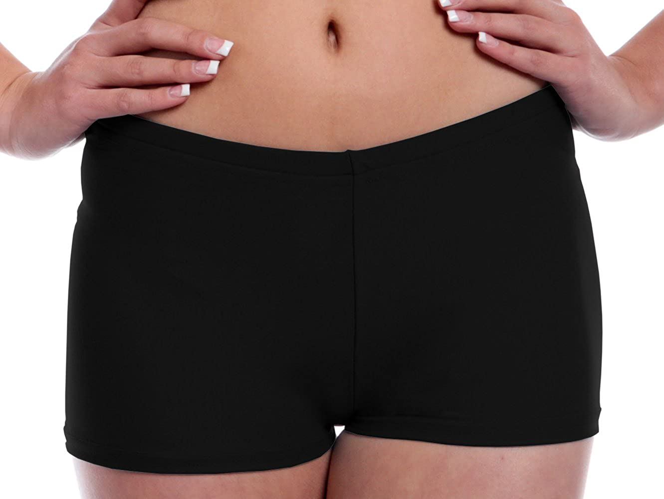 B Dancewear Girls Booty Shorts with Stretch for Dance, Yoga, Working Out, Exercise and Running Child and Kid Sizes