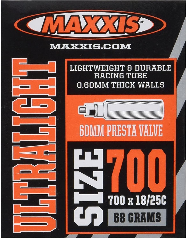 Maxxis Presta Valve 60mm Ultralight Tube (700X18-25)