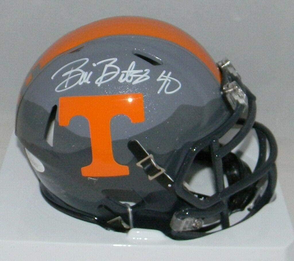 Bill Bates Signed Autographed Tennessee Volunteers Smoky Mountain Mini Helmet - Autographed College Mini Helmets