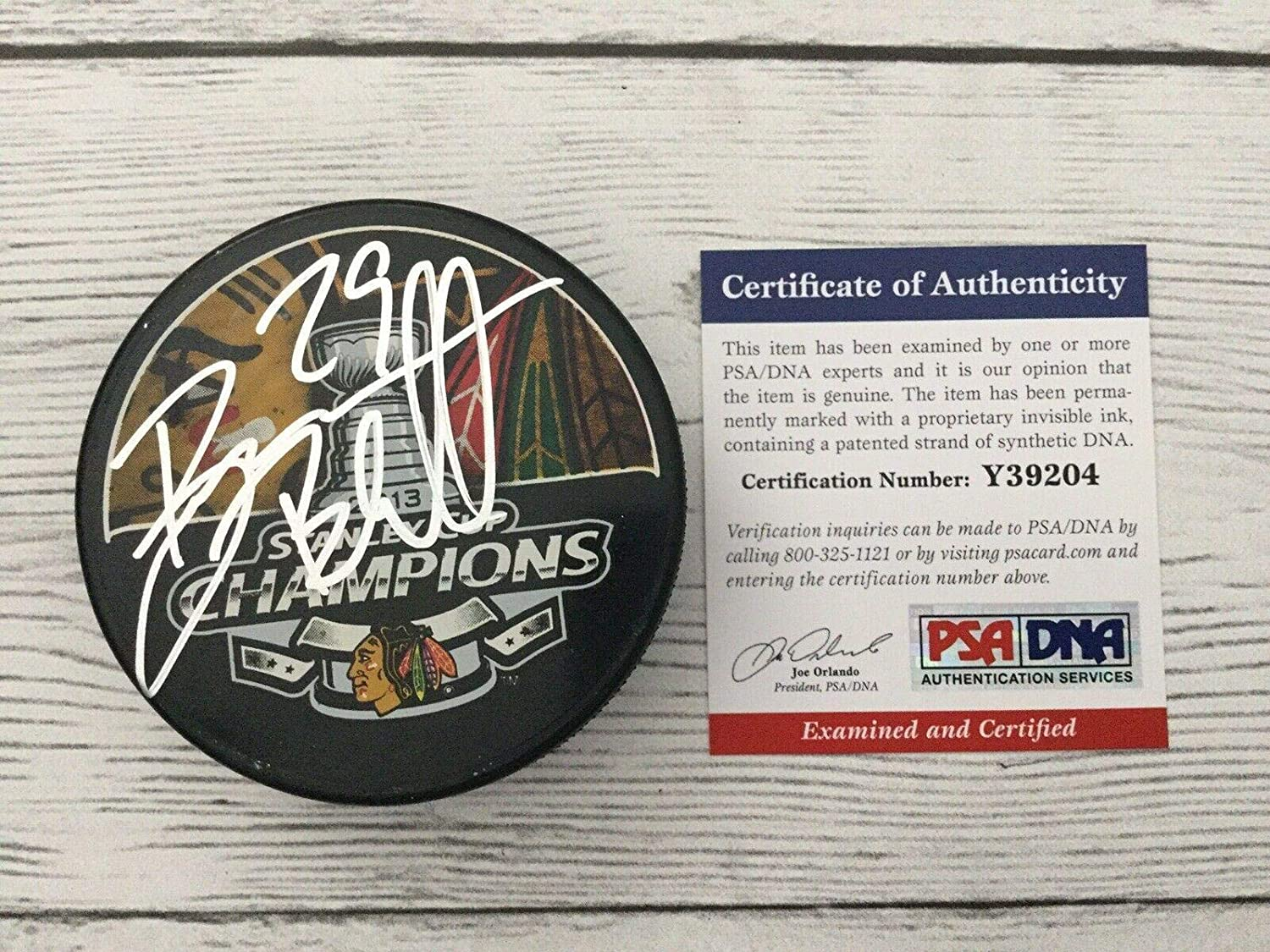 Autographed Bryan Bickell Hockey Puck - COA a - PSA/DNA Certified - Autographed NHL Pucks