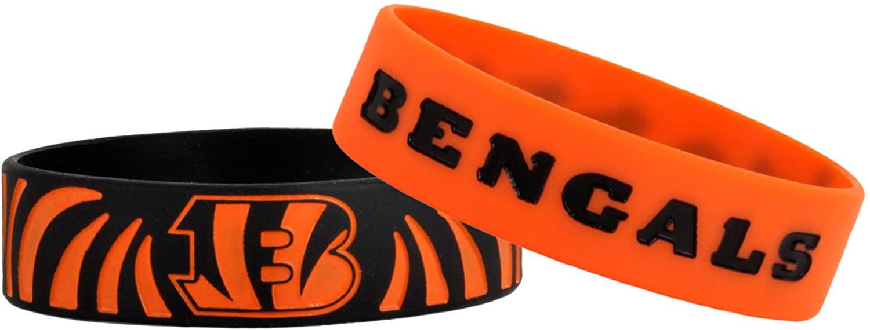FOCO NFL Cincinnati Bengals Bulk Bandz Bracelet 2-Pack