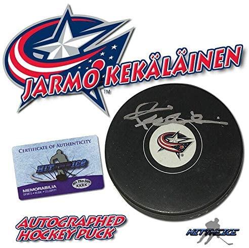 Jarmo Kekalainen Autographed Puck - Columbus Blue Jackets w COA GM - Autographed NHL Pucks