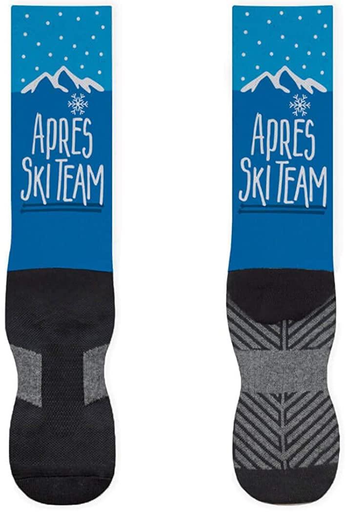 Skiing Printed Mid-Calf Socks | Après Ski Team | Assorted Sizes