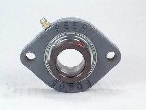 FHFD206-19G Bearing Flange Light Duty 2 Bolt 1 3/16 Inch PEER Ball Bearings