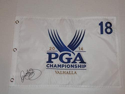 RORY MCILROY SIGNED 2014 PGA CHAMPIONSHIP PIN FLAG VALHALLA CHAMPION JSA COA