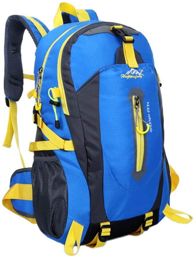 Maserfaliw Climbing & Hiking Equipment, Classical Basic Travel Backpack,40L Waterproof Travel Hiking Outdoor Sport Large Capacity Backpack Rucksack Bag - Blue
