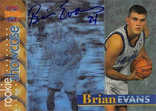 Brian Evans autographed Basketball Card (Orlando Magic) 1997 Topps Stadium Club Rookie Showcase #RS22