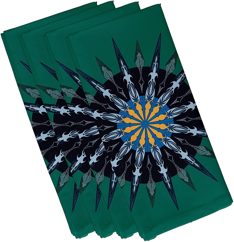 E by design Sea Wheel, Geometric Print Napkin, 19 x 19