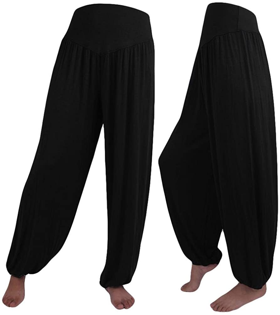 2019 Womens Elastic Loose Casual Modal Cotton Soft Yoga Sports Dance Harem Pants by-NEWONSUN