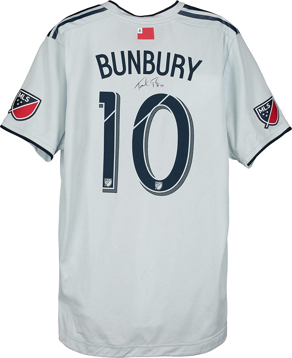 Teal Bunbury New England Revolution Autographed Match-Used #10 White Jersey vs. Atlanta United FC on October 19, 2019 - Fanatics Authentic Certified