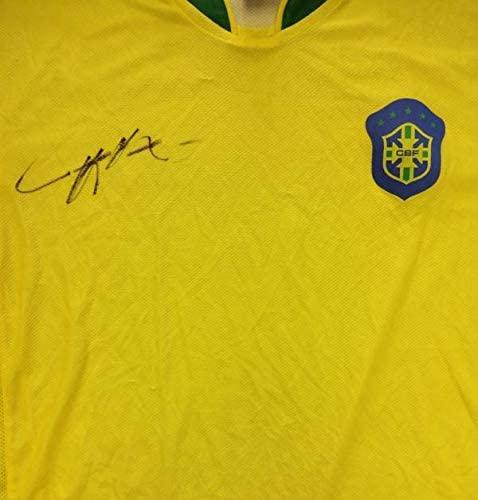 Kaka Autographed Jersey - Ricardo CBF Brazil #G23650 - PSA/DNA Certified - Autographed Soccer Jerseys