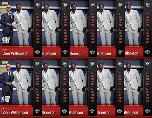 Ten (10) 2019-20 Panini Instant Basketball #DN-ZW Zion Williamson Rookie Cards - Investor Lot - 1st Official Rookie Card