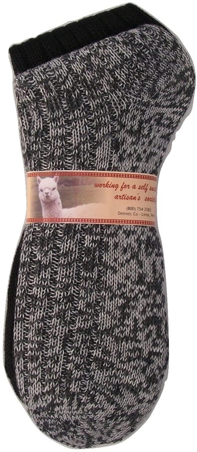 Two Pack Alpaca Socks Earth Tones Heavy Outdoor Mid Calf Unisex Adult Soft and Light L SZ 7-10