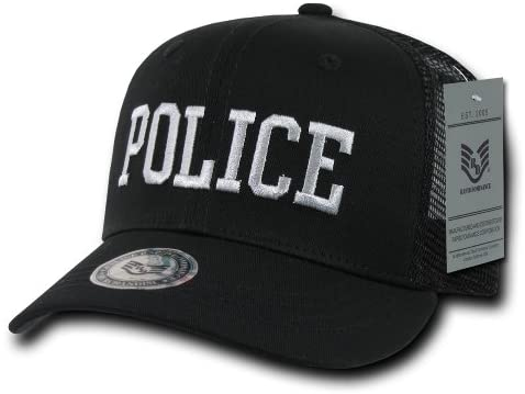 Rapiddominance Police Back to The Basics Mesh Cap, Black