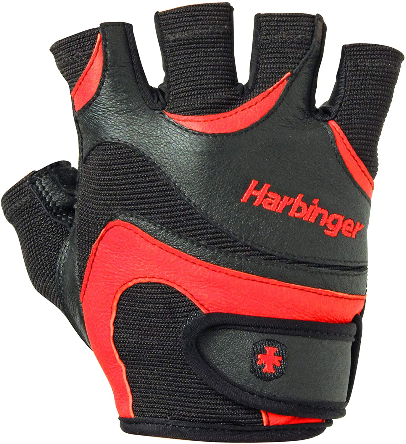 Harbinger FlexFit Non-Wristwrap Weightlifting Gloves with Flexible Cushioned Leather Palm (Pair)