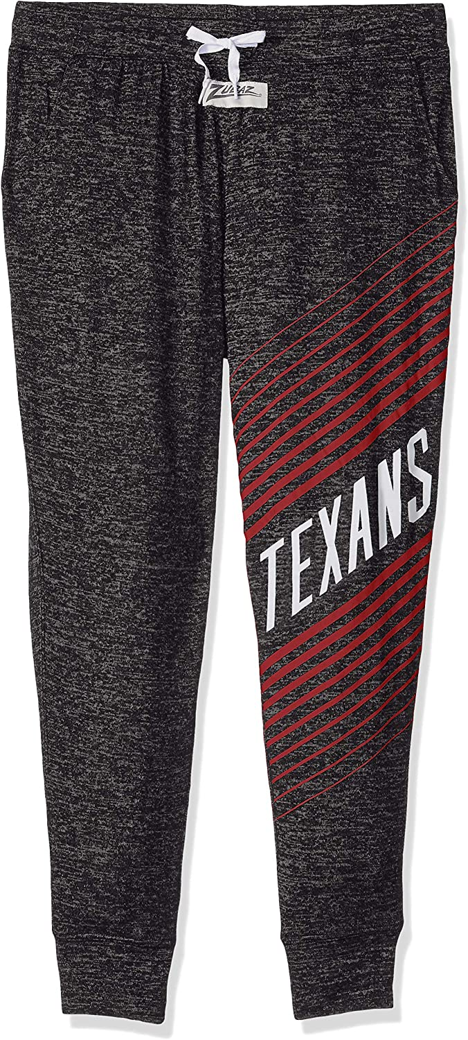 Zubaz NFL Houston Texans Female Joggers, Large, Gray