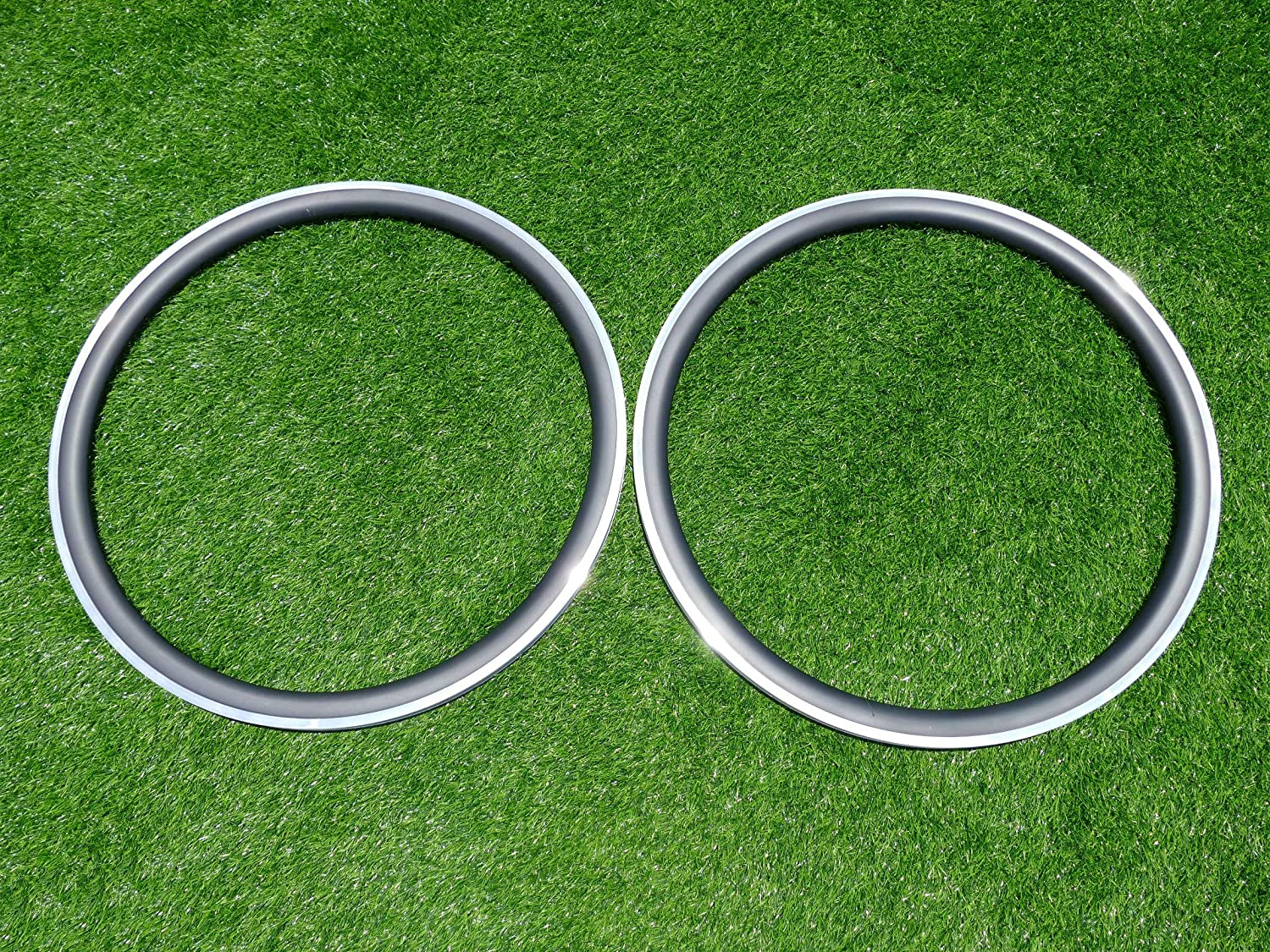 Width 21mm Wide 38mm Cycling Wheel Rims UD Carbon Glossy Bike Clincher Rim 700C Carbon Road Bicycle Rims 38mm (20, 24 Holes) Alloy Brake Side