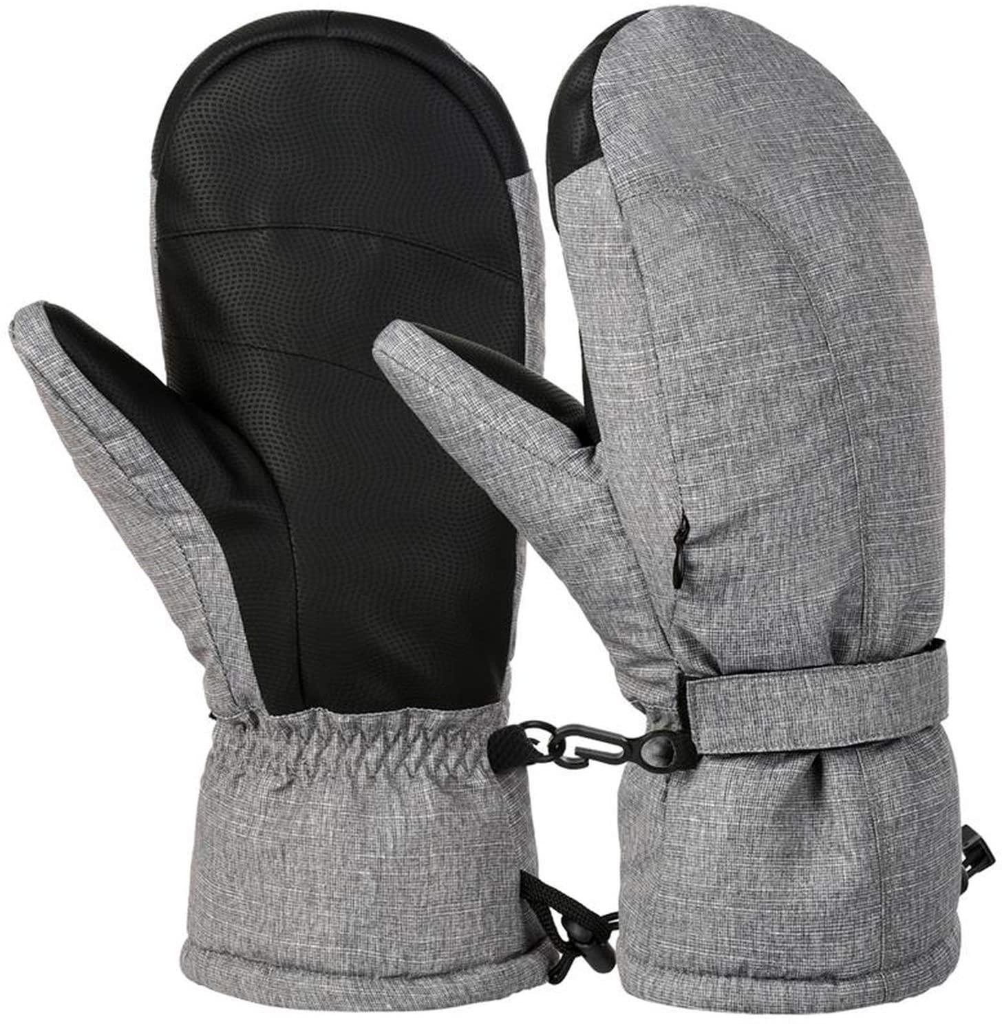 YR5V4V Men Women Warm Winter Ski Gloves Outdoor Sports Mitten Thickened Cold Weather Gloves Windproof Winter Snowboard Gloves-in Skiing Gloves