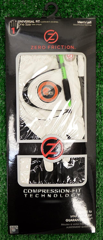 Zero Friction Men's LH Universal Fit Golf Gloves - Cleveland Browns - White
