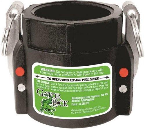Green Leaf GLP 200 D Series Polypropylene Gator Lock Cam Lever Coupling, Locking, 2