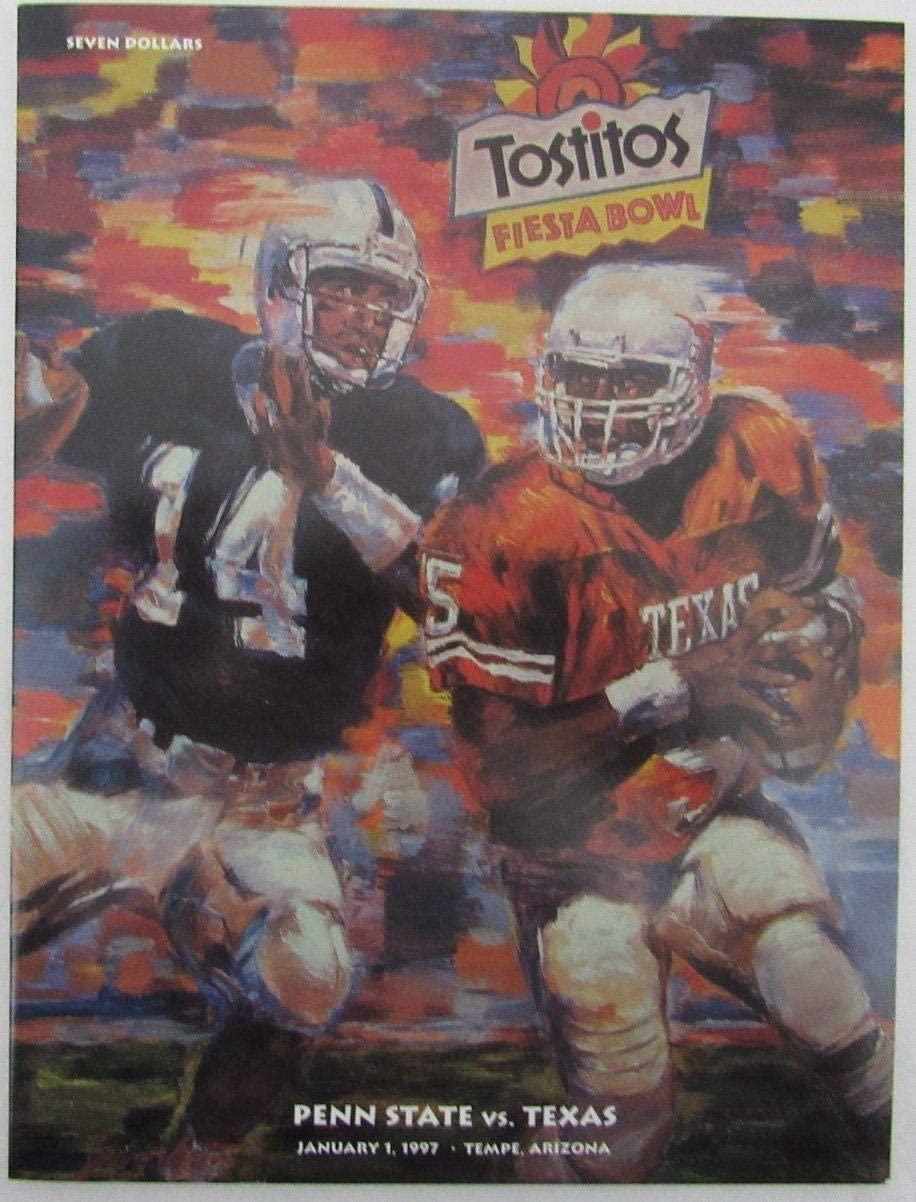 1997 Fiesta Bowl Program PSU Penn State Nittany Lions vs. Texas 137155 - College Programs