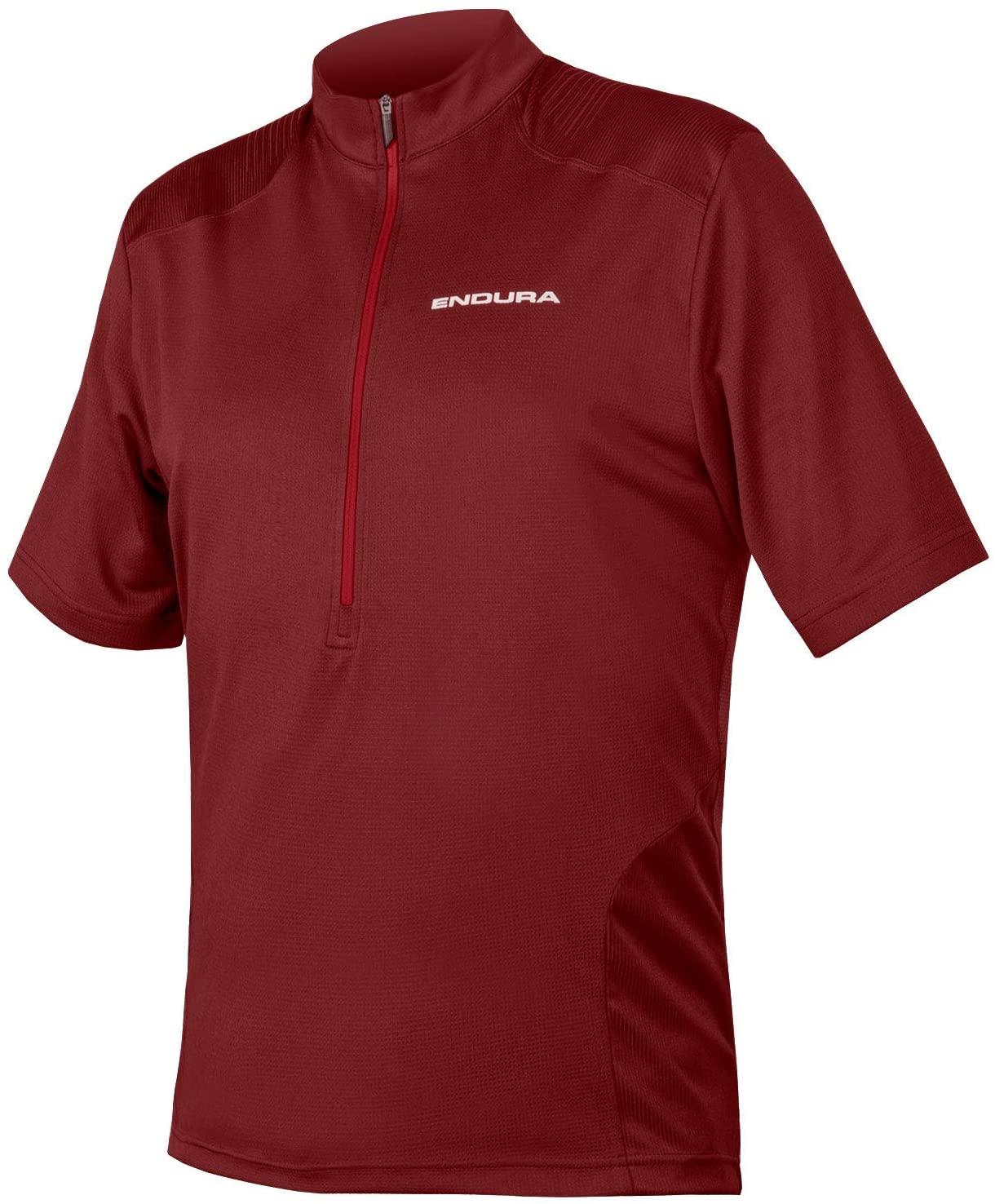 Endura Men's Hummvee Short Sleeve Cycling Jersey Cocoa, X-Large