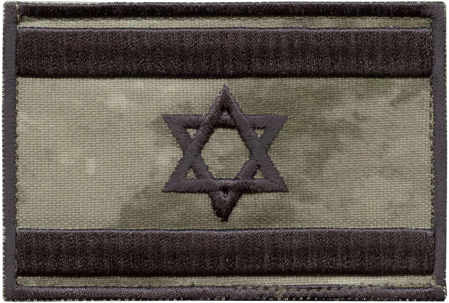 LEGEEON A-TACS AU Israel Flag IDF Arid Morale Star David Army Embroidery Sew Iron on Patch