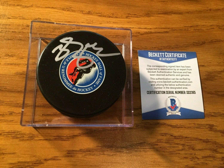 Authentic Autographed Brendan Shanahan NHL Hockey Hall Of Fame Puck Beckett COA