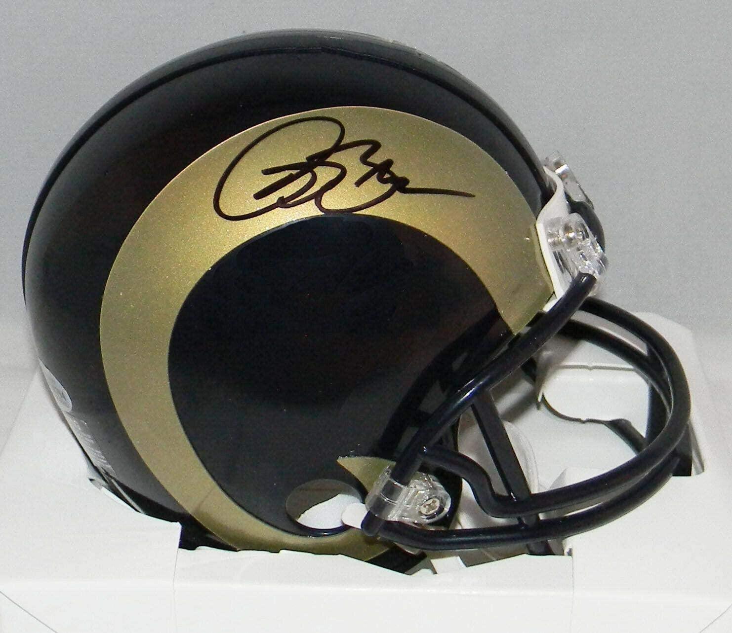 Isaac Bruce Signed Mini Helmet - Beckett - Beckett Authentication - Autographed NFL Mini Helmets