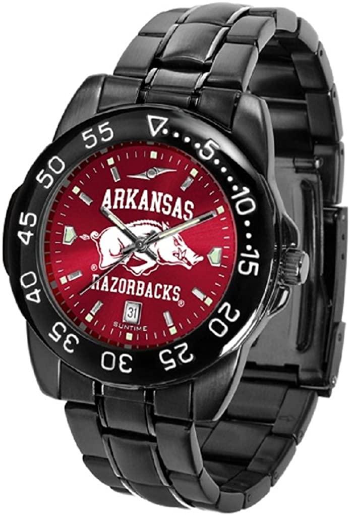 SunTime Collegiate Fantom Sport Anochrome Premium Mens Watch with Gunmetal Band (Arkansas)