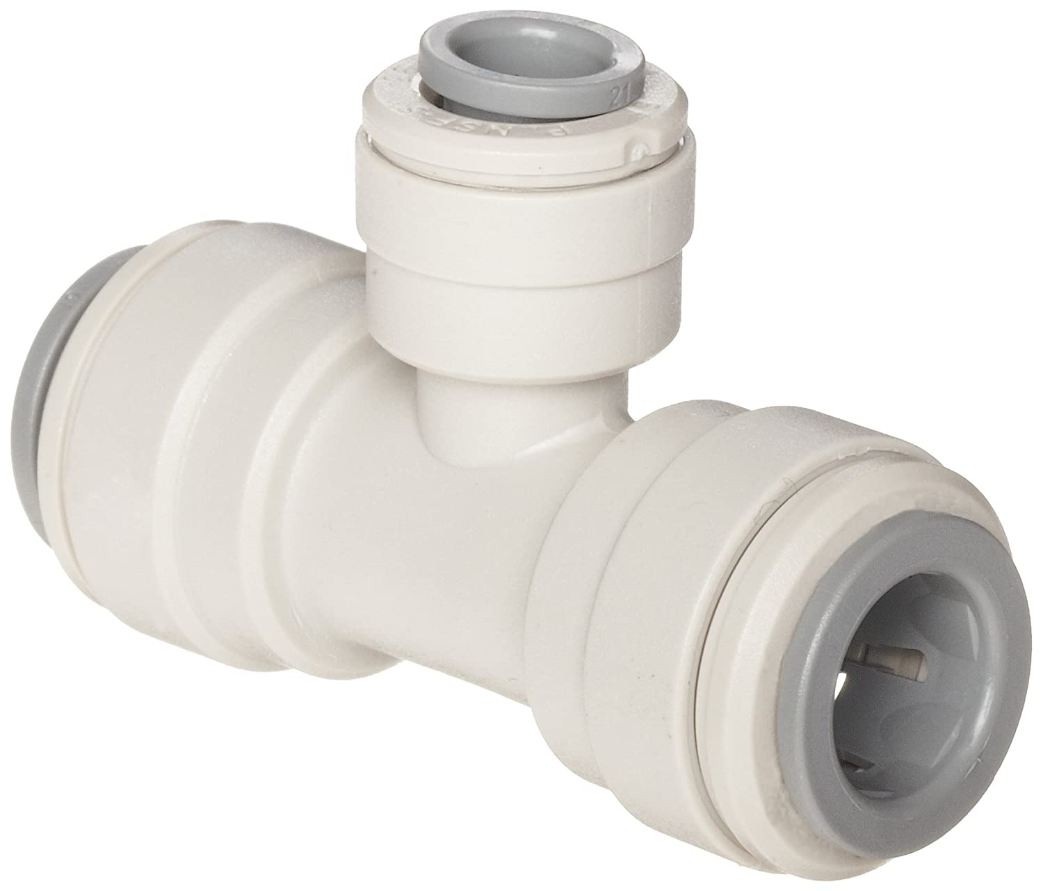 John Guest Acetal Copolymer Tube Fitting, Reducing Branch Tee, 3/8