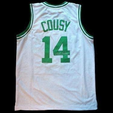 Bob Cousy Autographed Jersey - Autographed NBA Jerseys