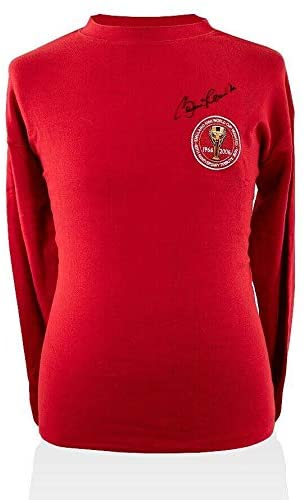 Bobby Charlton Signed World Cup Shirt - 1966 40th Anniversary Autograph - Autographed Soccer Jerseys