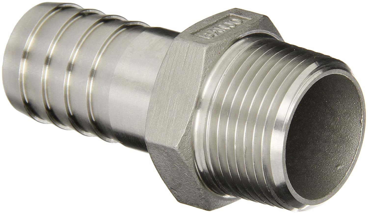 Banjo HB100SS Stainless Steel 316 Hose Fitting, Adapter, 1