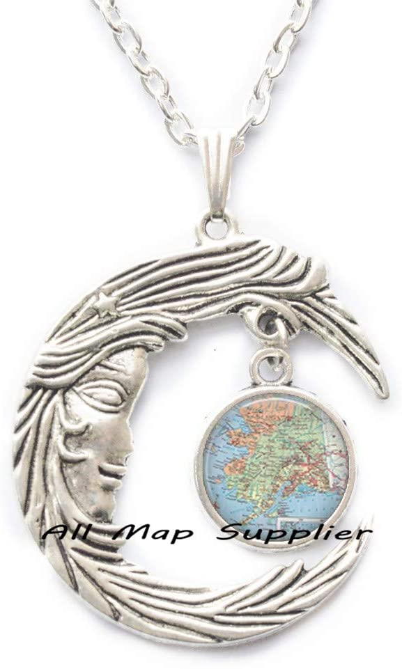 AllMapsupplier Fashion Necklace,Alaska map Pendant,Alaska map Necklace Alaska Pendant Alaska Necklace Alaska map Jewelry,A0182