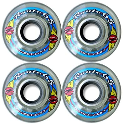 KRYPTONICS Route 65MM 78A Clear Longboard Cruiser Skateboard Wheels