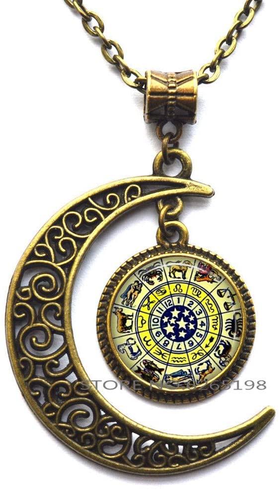 Zodiac Necklace, Zodiac Jewellery, Zodiac Sign Necklace, Zodiac Constellation Necklace,N205